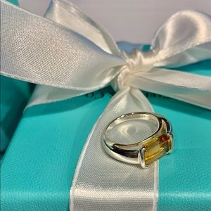 Sterling silver, Citrine stone ring, Tiffany & Co
